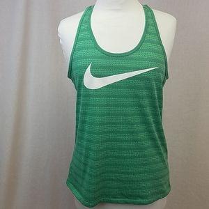 Nike dot pattern workout razorback tank top